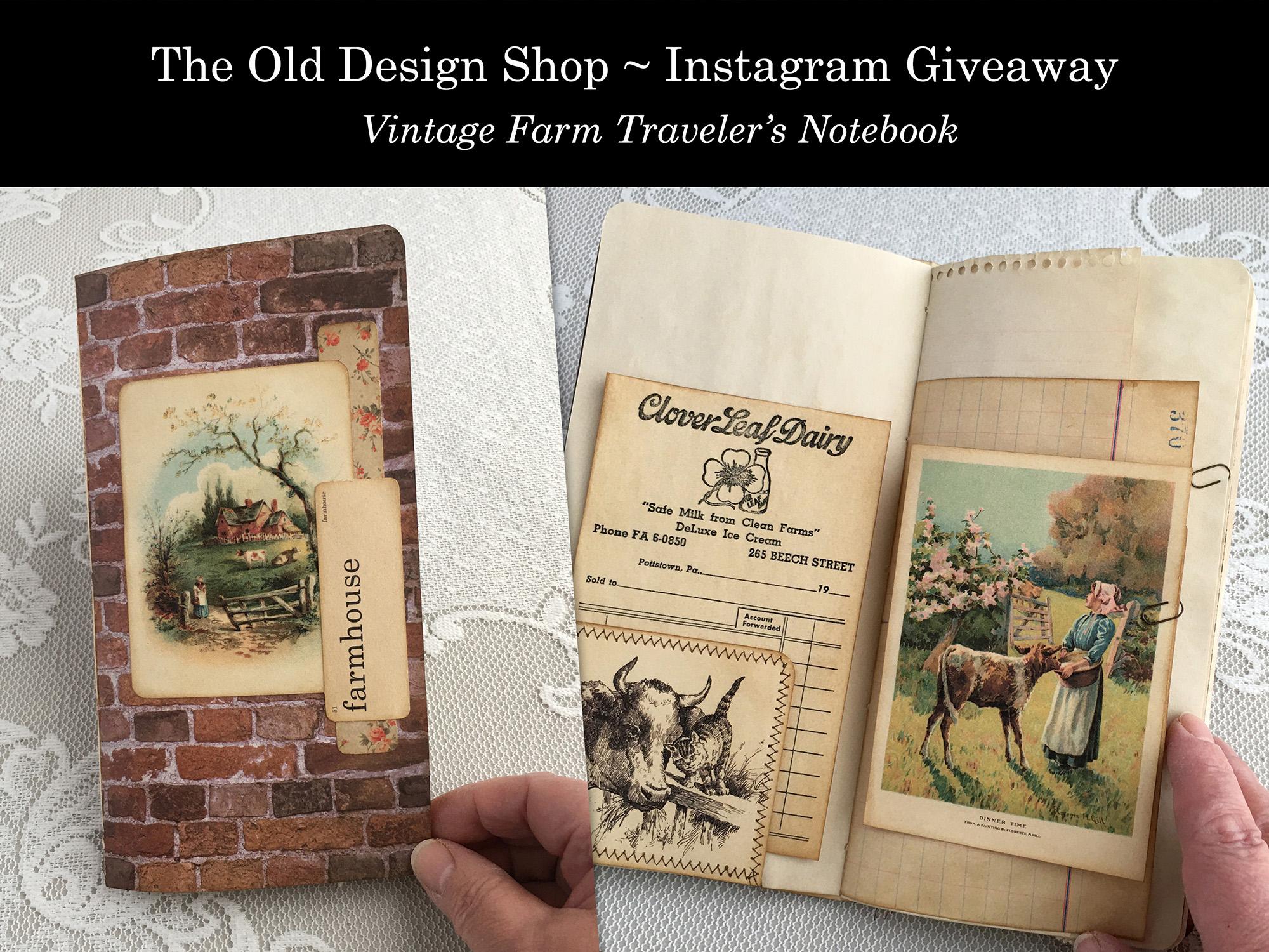 vintage farm traveler's notebook