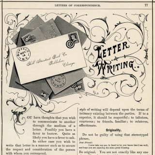 letter writing printable book page