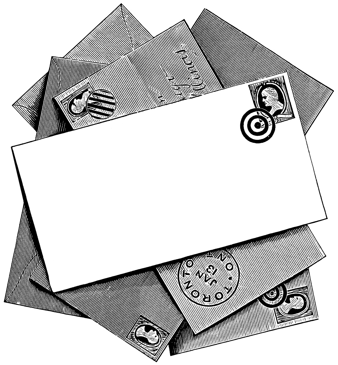 letter writing printable vintage clip art