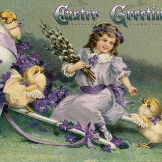 easter greetings printable postcard