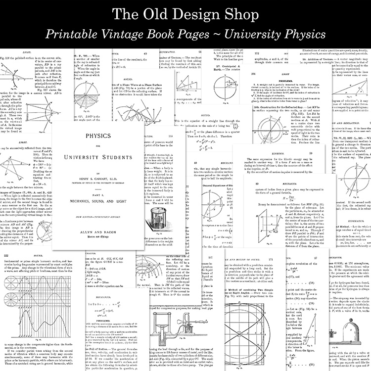 printable vintage book pages