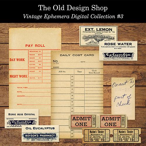 printable vintage ephemera
