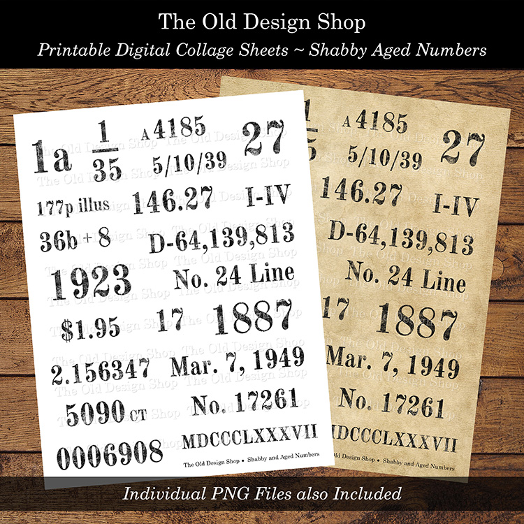 printable grunge number labels