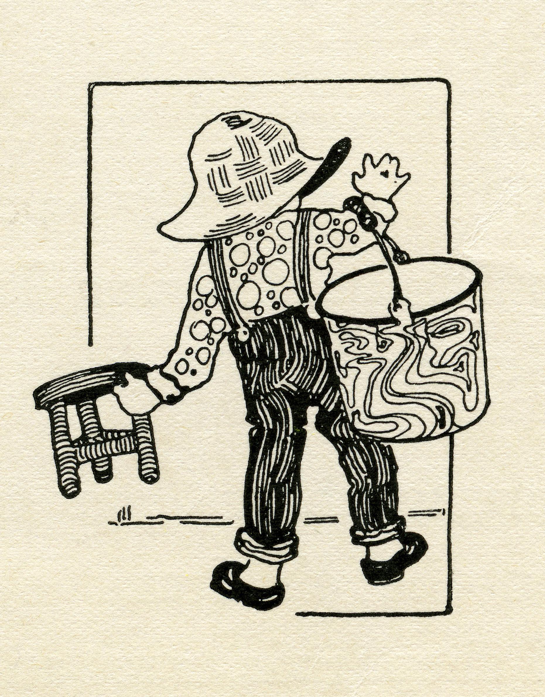 vintage farmer clip art