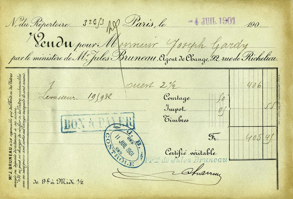 vintage French receipts free printable