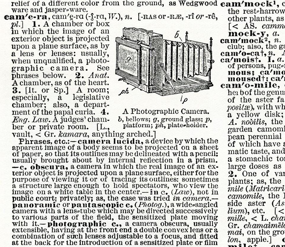 antique dictionary camera