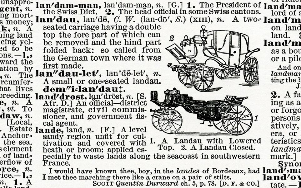 antique dictionary landau