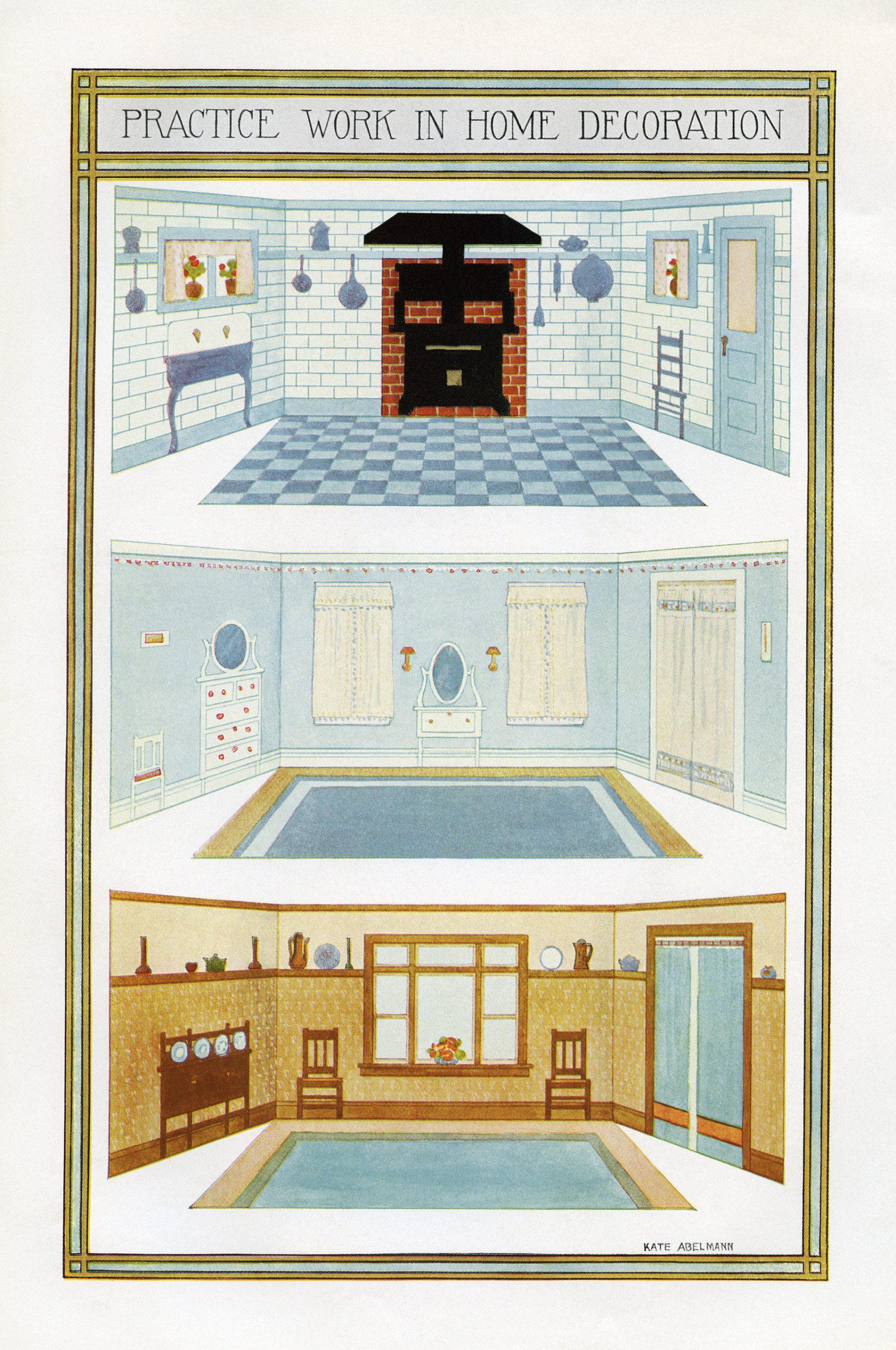 vintage home decorating ideas clip art