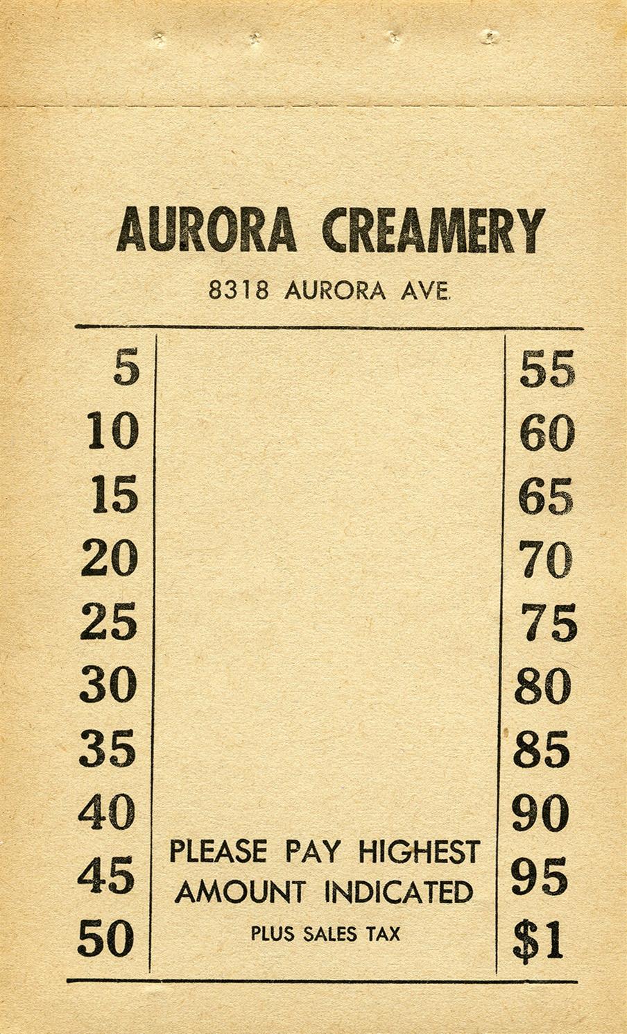 vintage creamery invoice clip art