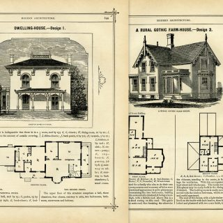vintage house and floor plans