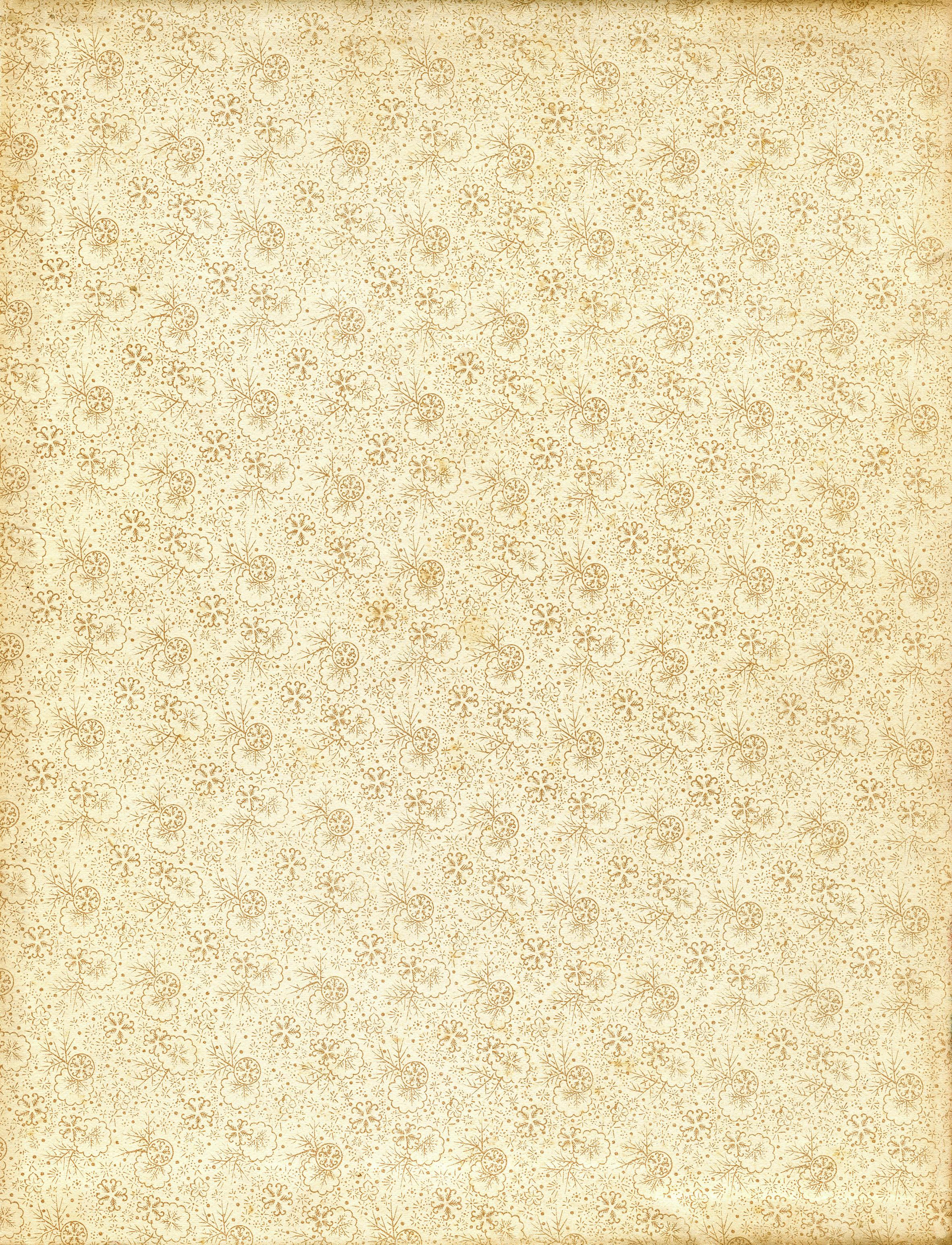 vintage floral patterened endpaper